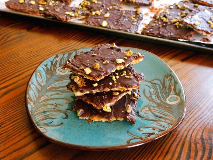 Chocolate Toffee Matzo Crunch - Passover Dessert Recipe