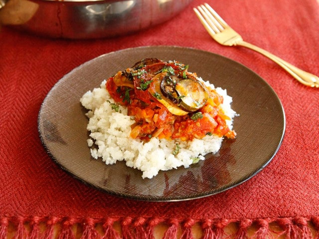 Spicy Smoky Ratatouille Casserole Recipe - Healthy Vegan Entree, Side Dish by Tori Avey