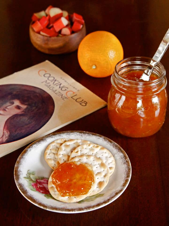 Rhubarb Marmalade - A vintage recipe for rhubarb marmalade, a delicious twist on sweet marmalade jam with step-by-step photos from Cooking Club, April 1907.