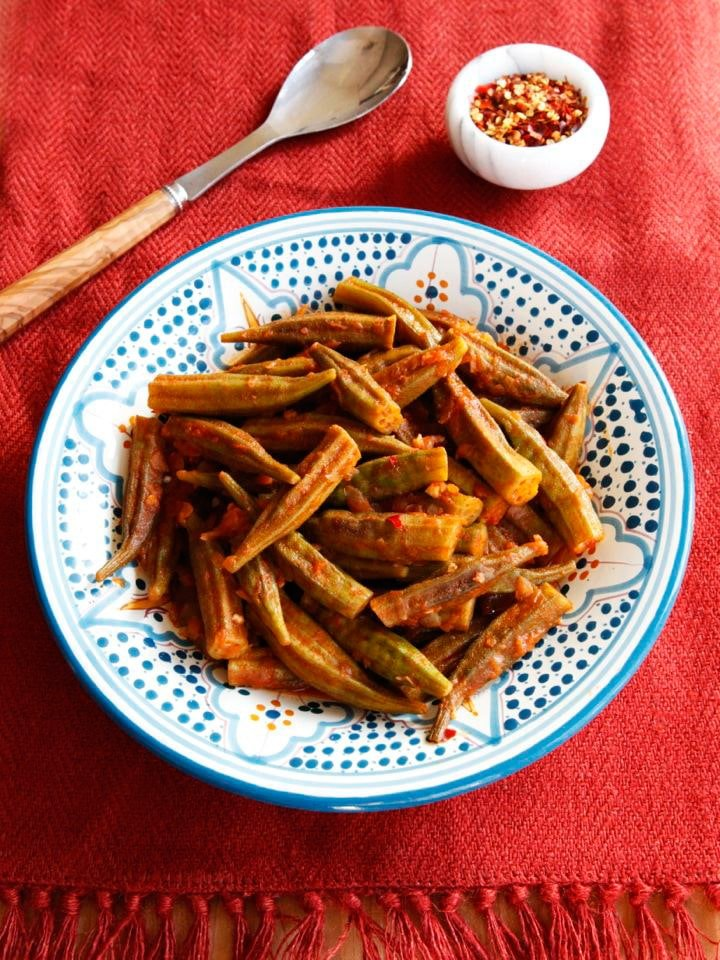 Middle Eastern Okra Bamya Recipe With Spices