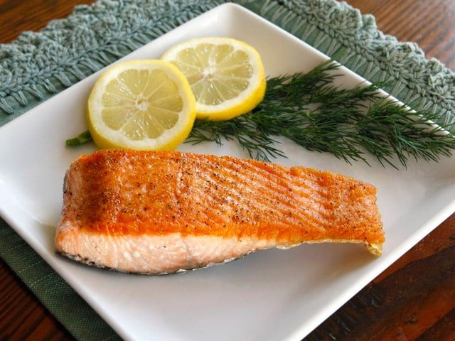 How to Sear Salmon Fillets - Moist and Flaky with a Golden Crust. Restaurant-quality salmon recipe by Tori Avey