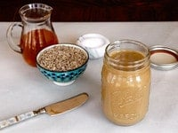 Sunflower Butter - Recipe Tutorial for Homemade Sunflower Seed Butter by Tori Avey. Peanut butter alternative, easy, all natural, delicious.