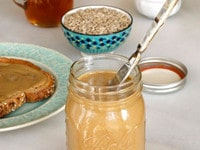 Sunflower Butter - Recipe Tutorial for Homemade Sunflower Seed Butter by Tori Avey. Peanut butter alternative, nut allergy safe. Easy, all natural, delicious.