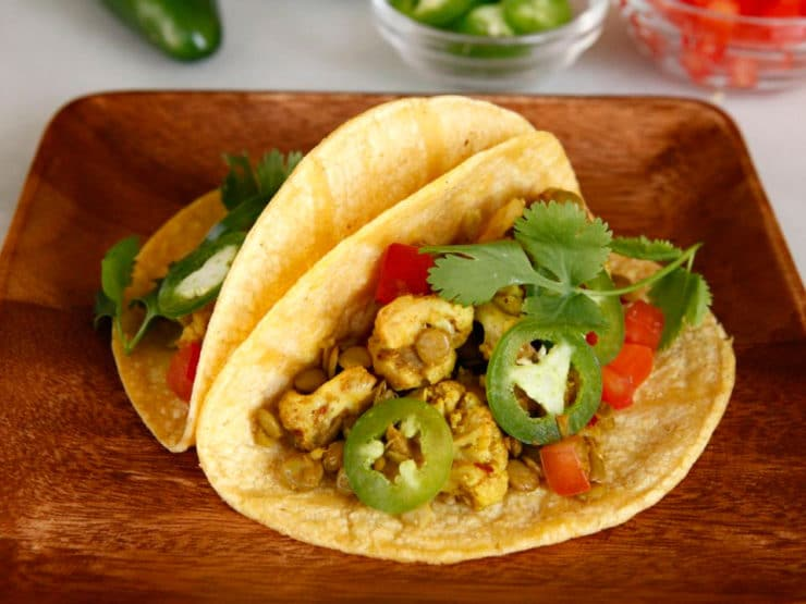 Vegan Lentil Cauliflower Tacos