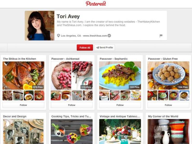 Tori Avey's Passover Pinterest Boards