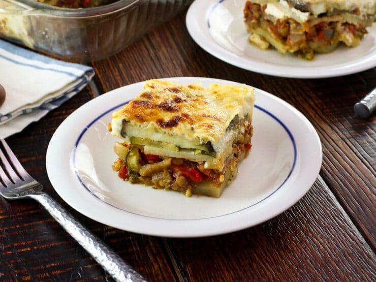 Roasted Vegetable Moussaka Mediterranean Vegetarian Recipe