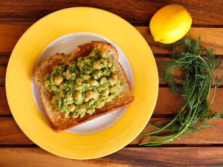 Chickpea Avocado Salad with Lemon and Dill - Vegan Protein-Packed Egg Salad Alternative by Tori Avey