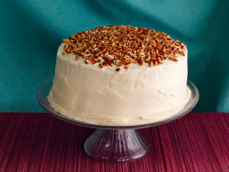 A traditional recipe and history for Hummingbird Cake from food historian Gil Marks on ToriAvey.com