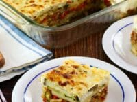 Roasted Vegetable Moussaka Pinterest Pin on ToriAvey.com