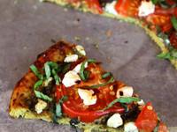 Tomato Basil Tart with Pesto, Goat Cheese and Cauliflower Crust - Gluten Free Recipe by Tori Avey