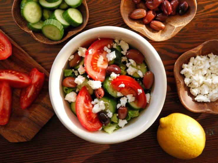 Greek Salad Quinoa Bowl Recipe - Healthy Protein-Packed Vegetarian Recipe by Tori Avey
