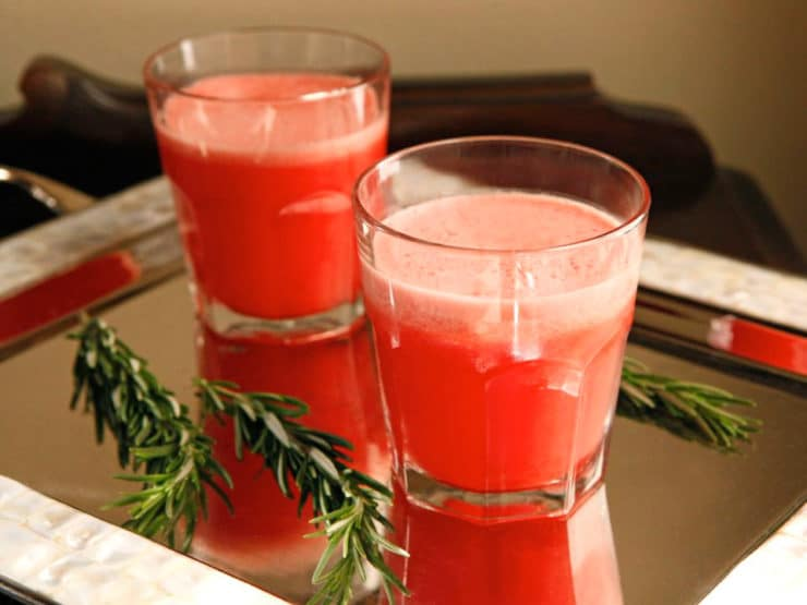 Watermelon Rosemary Frozen Lemonade + the premiere of