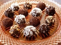Brigadeiros - Recipe for Brazilian Chocolate Truffle Candies inspired by Brigadier Eduardo Gomes #Brazil #WorldCup #negrinho #candy #dessert