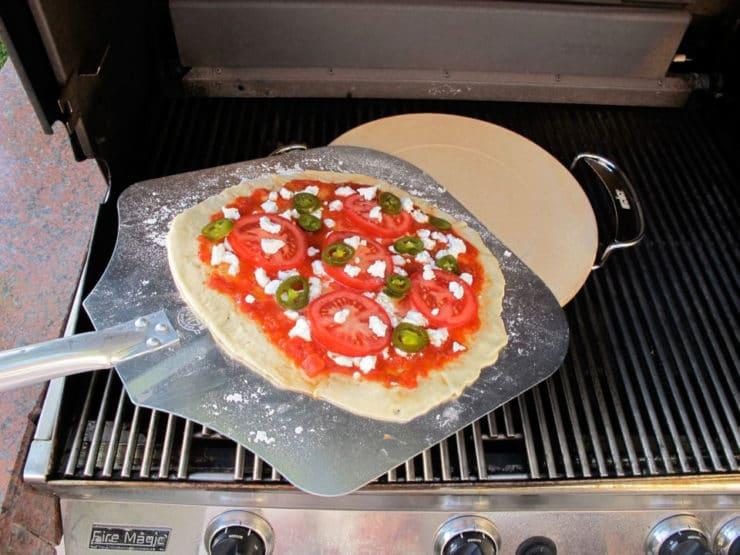 grill pizza   pizza stone thin crust recipe