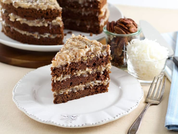 German Chocolate Cake With Cream Cheese Frosting