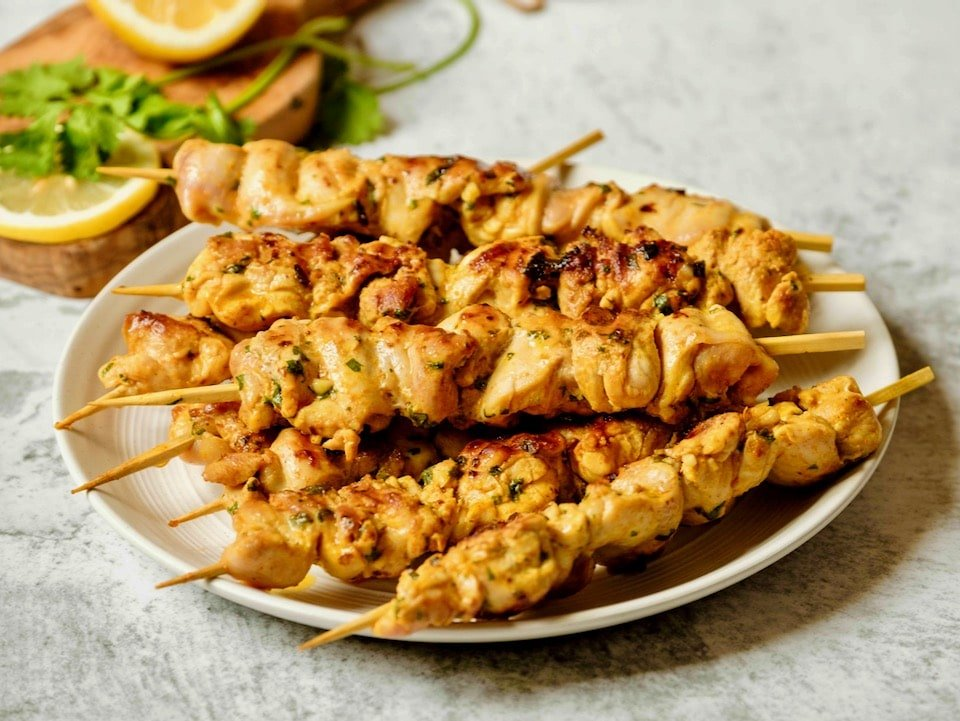 Lemony Marinated Chicken Skewers Grilling Recipe