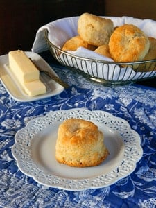 Biscuits - Dairy or Dairy Free - Simple buttery, delicious biscuit recipe for breakfast, brunch or dinner.