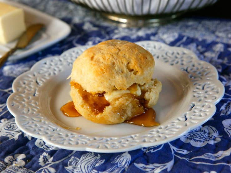 Biscuits - Dairy or Dairy Free Vegan - Simple buttery, delicious biscuit recipe for breakfast, brunch or dinner.