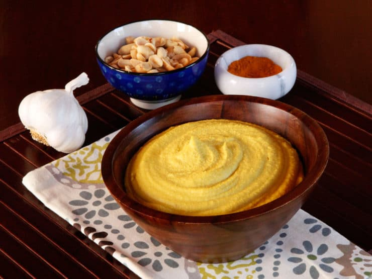 Peanut Hummus Recipe - A Unique and Delicious Spin on Chickpea Hummus with Garlic and Spices