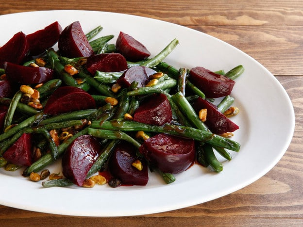 Green Bean Beet Amp Pistachio Salad Vegan Recipe