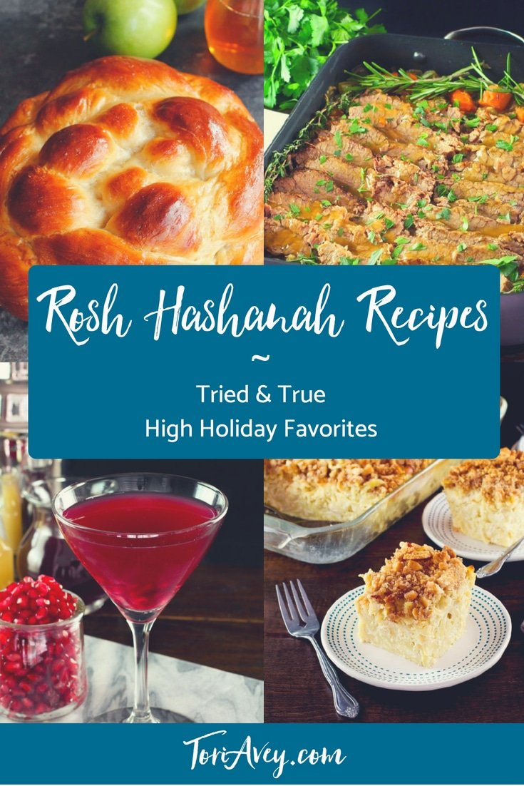 Rosh Hashanah Recipes - A delicious collection of tried and true Rosh Hashanah kosher holiday recipes with reviews and step-by-step photo tutorials for a sweet new year! | Tori Avey #roshhashanah #highholidays #kosherrecipes #jewishholidays #koshercooking #TorisKitchen ToriAvey