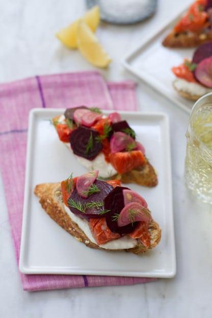 Aida Mollenkamp - Beet Horseradish Smoked Salmon Toast