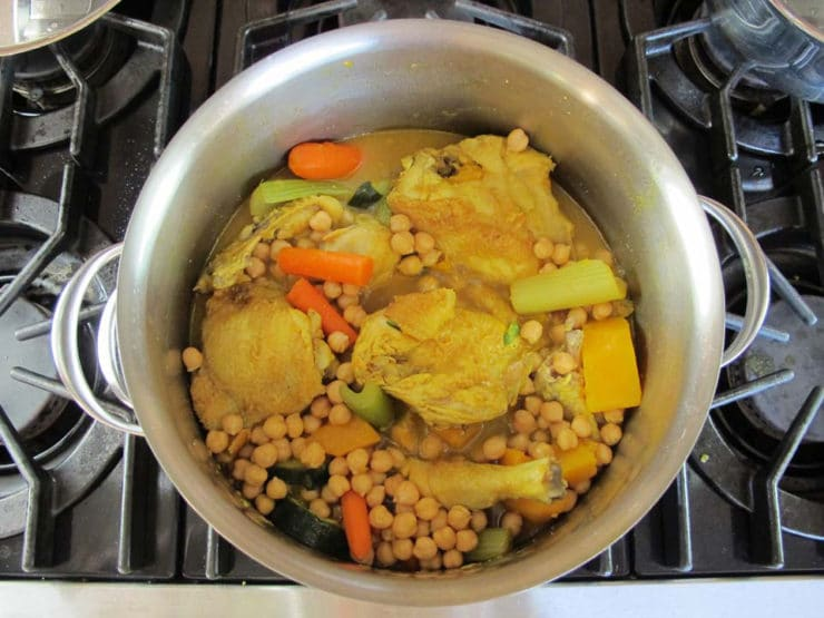 Couscous added to stockpot.