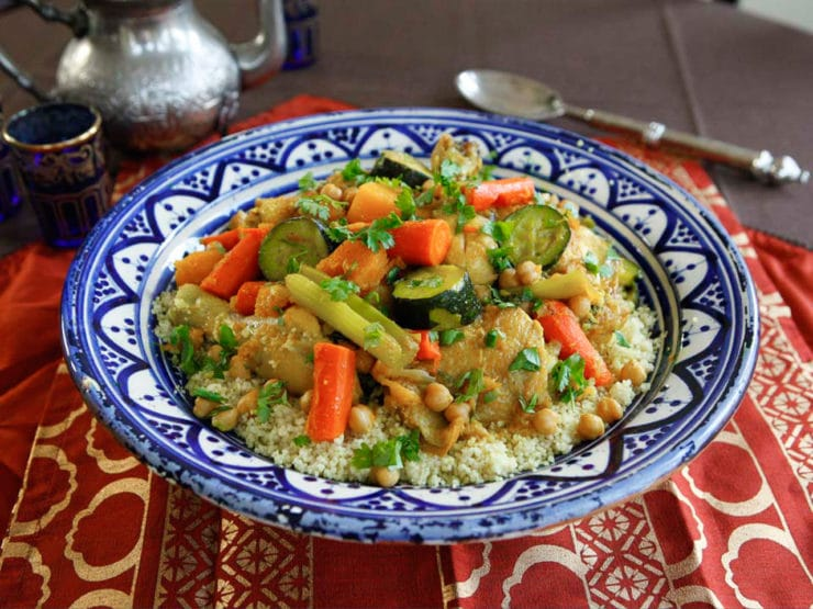 Chicken Vegetable Couscous Savory Moroccan Recipe