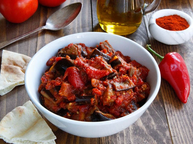 Roasted Eggplant Matbucha