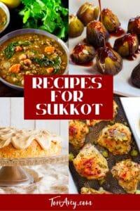 Recipes for Sukkot Pinterest Pin on ToriAvey.com
