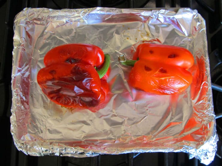 Peppers roasted.
