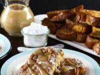 Challah French Toast with Kahlua Cream Sauce Pinterest Pin