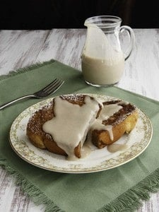 Challah French Toast with Kahlua Coconut Crème - Decadent Dairy-Free Breakfast or Brunch Recipe on ToriAvey.com