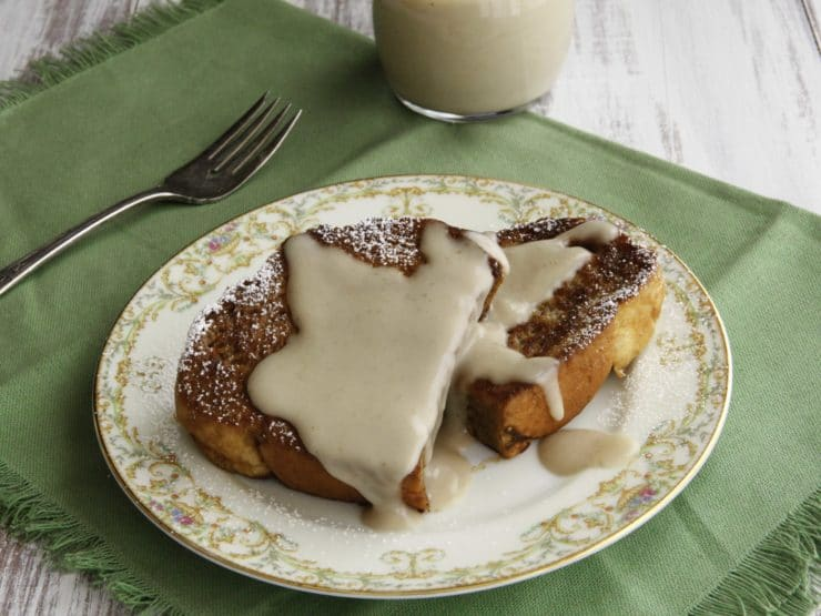 Challah French Toast with Kahlua Coconut Crème