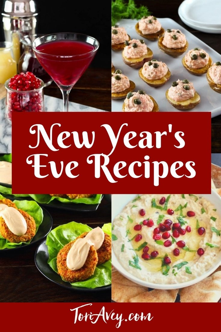 New Year's Recipe Roundup - Delicious Ideas to Help You Ring in the New Year, including tasty appetizers, desserts and refreshing cocktails | ToriAvey.com #newyearseve #cocktailparty #cocktail #appetizers #dessert #potluck #celebration #partyfood #TorisKitchen