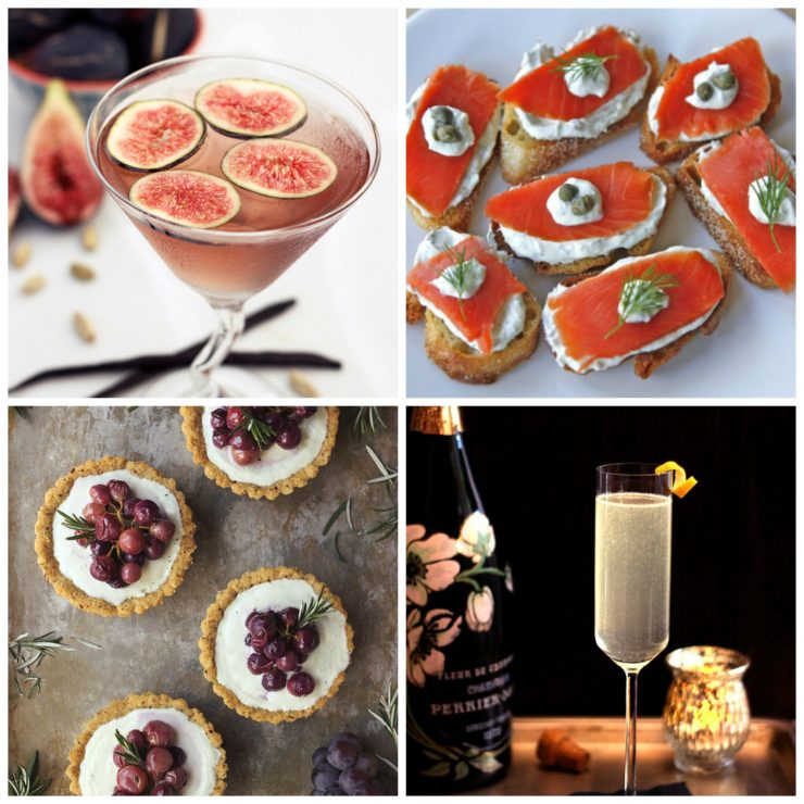 New Year's Eve Appetizers & Cocktails - Recipe Roundup on ToriAvey.com #newyears