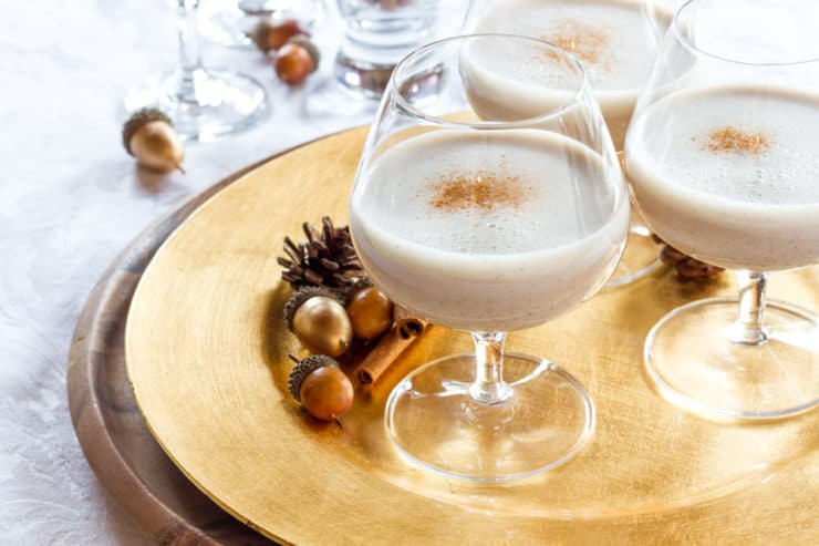Veggnog - Easy Vegan Eggnog with no animal products and added protein. Scrumptious, light and healthy holiday drink with a rich, creamy flavor.