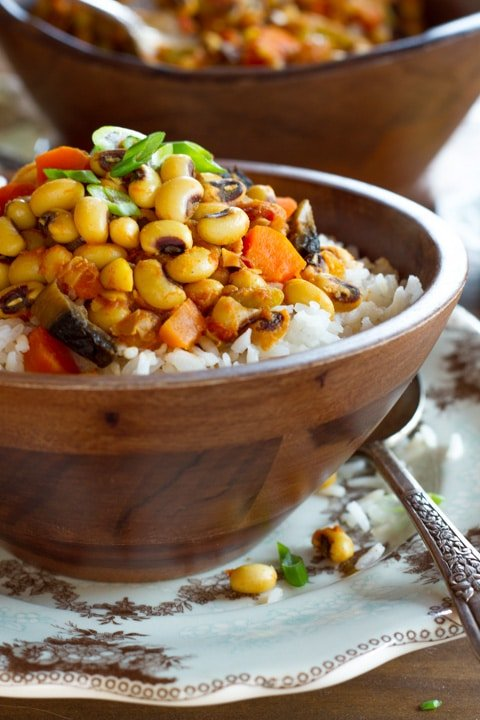 Vegan Hoppin' John Recipe - Smoky, Healthy, and Satisfying Meatless Version of a Southern Classic for the New Year or Rosh Hashanah.