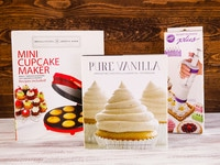 Mini Cupcake Baking Giveaway - Comment to Win a Baking Package including Mini Cupcake Maker, Pure Vanilla Cookbook, and Wilton Dessert Decorator! #contest #giveaway #prize