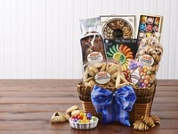 Zabar's Purim Basket Giveaway - Win a Gorgeous Basket from Zabar's New York with Hamantaschen, Babka, Rugelach and More! Comment to win #contest #prize