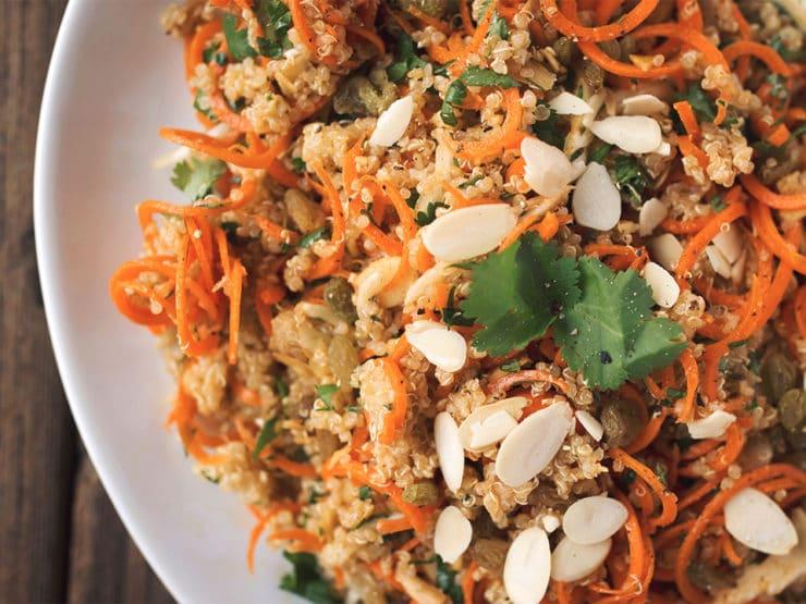 Tori's Passover Potluck 2015 - Moroccan Quinoa Carrot Salad from Beth Manos Brickey, Tasty Yummies. Gluten Free, Vegan, Kosher for Passover. #PassoverPotluck