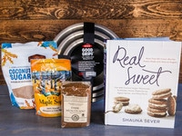Win a copy of Shauna Sever's cookbook Real Sweet and a natural sugar baking prize pack, including my very favorite OXO mixing bowls! Comment to win, share for additional chances. #contest #prize