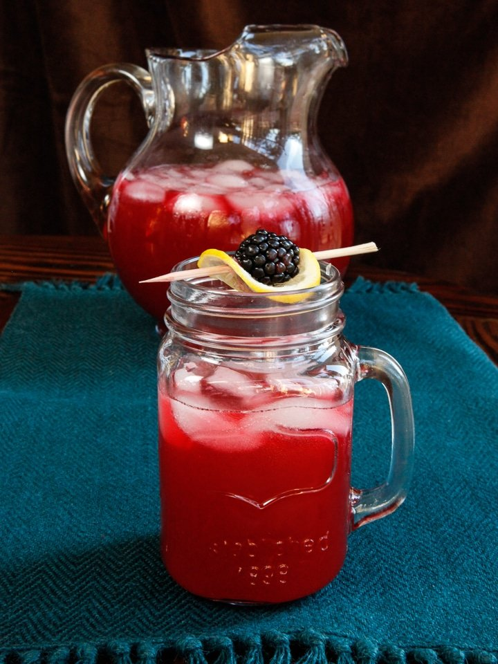Blackberry Vanilla Bourbon Lemonade - A drink as scandalous as the Whiskey Ring but sweet as a Southern sunset. Easy refreshing cocktail recipe.