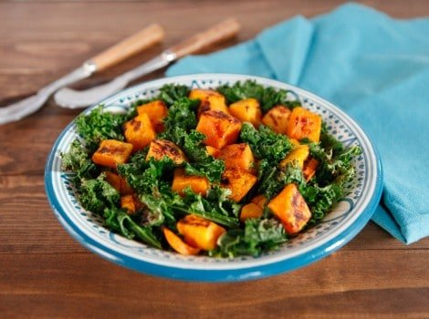 Butternut Squash and Crispy Kale Bake