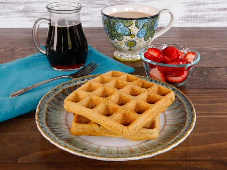 Tahini Waffles Recipe - Gluten Free, Crisp and Fluffy Waffles. Healthy, Natural, Dairy Free and Delicious