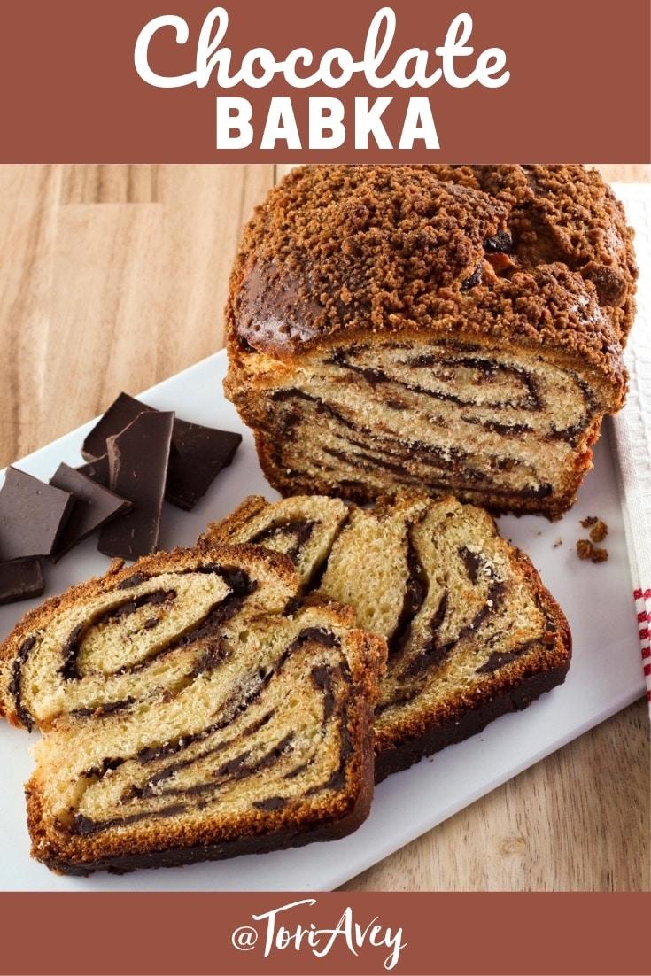 Chocolate Babka Pinterest Pin on ToriAvey.com