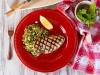 Lemon Basil Grilled Chicken Breast - Simple, Delicious Summery Marinade Recipe for Chicken. Broil, Bake, Grill or Sauté.