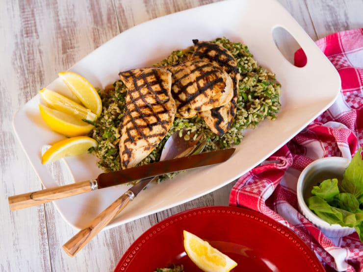 Lemon Basil Grilled Chicken Breasts - Simple, Delicious Summery Marinade Recipe for Chicken. Broil, Bake, Grill or Sauté.