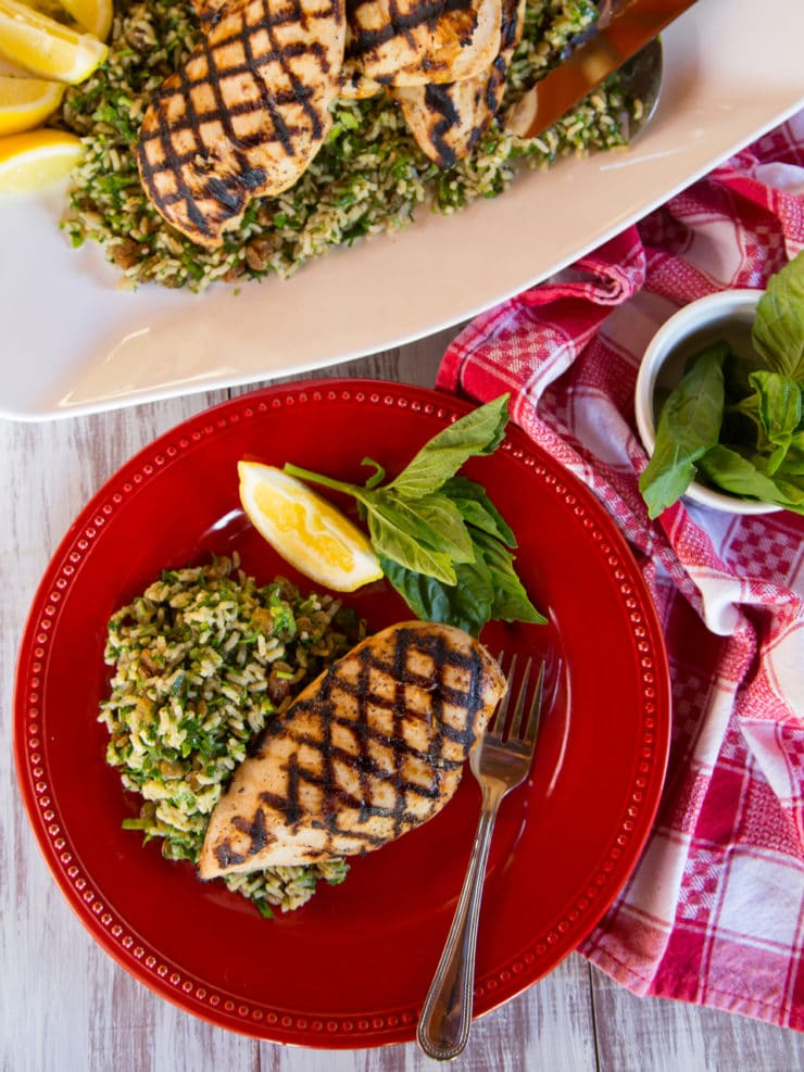 Lemon Basil Grilled Chicken Breasts - Simple, delicious summery marinade recipe for chicken. Broil, bake, grill or sauté. Easy, fast and delicious.