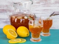 Lemon Lavender Iced Tea - Lightly Sweetened Black Iced Tea Infused with Lavender and Fresh Lemon Juice